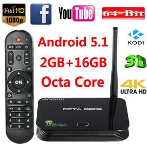 Z4 Android 5.1 TV Box RK3368 Octa Core 64Bit 2GB/16GB Dual WIFI