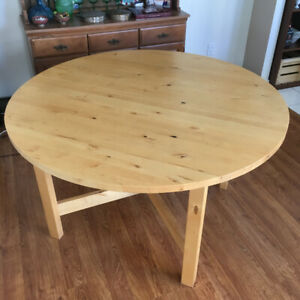 Wood Dining Table Extendable Round/Oval Ikea