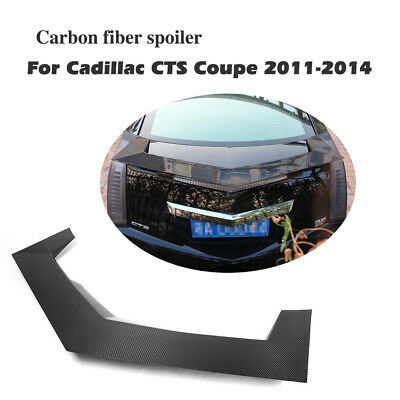 Carbon Fiber Rear Bumper Spoiler Boot Wings Lip Fit for Cadillac CTS Coupe 11-14