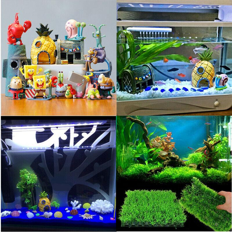 Aquarium Decorations SpongeBob Theme Fish Tank Accessories Fish Tank Ornament