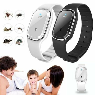 Ultrasonic Anti Mosquito Insect Pest Bugs Repellent Repeller Wrist Bracelet Band Camping & Hiking