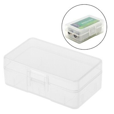 Mini Transparent Case Holder Storage Box For 1x 9V Battery Or 2x AA Batteries