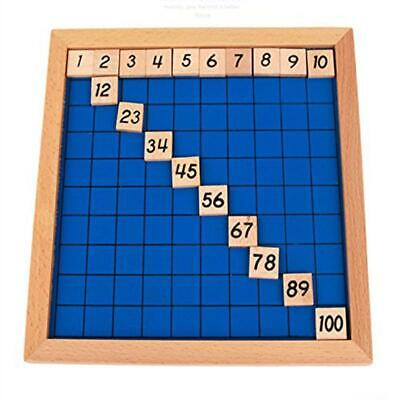 - Wooden Toys Hundred Board Montessori 1-100 Consecutive Numbers Board Game Toy LI