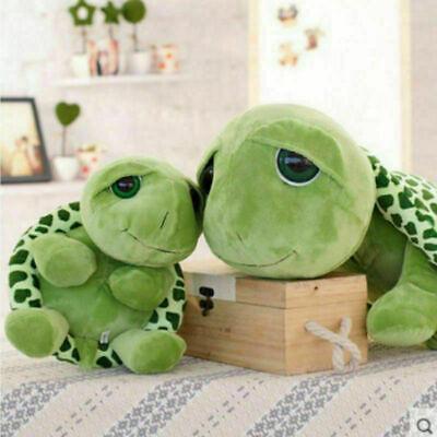Schildkröte Plüsch Spielzeug Kissen groß Augen grün Geschenk für Mädchen ()