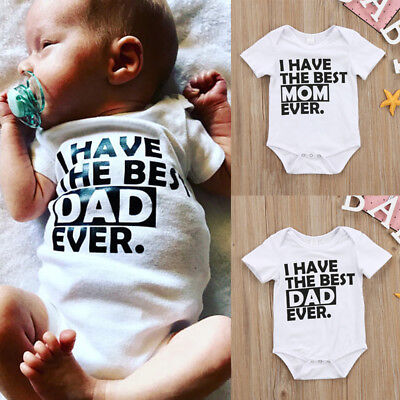 Best Outfits For Girls (Best Daddy Mommy Newborn Infant Baby Boys Girls Romper Bodysuit Clothes)