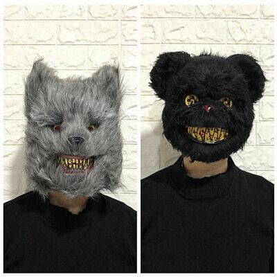 Halloween Costumes Scary Rabbit (White Bunny Bloody Rabbit Costume Scary Mask Halloween Killer for Kids)
