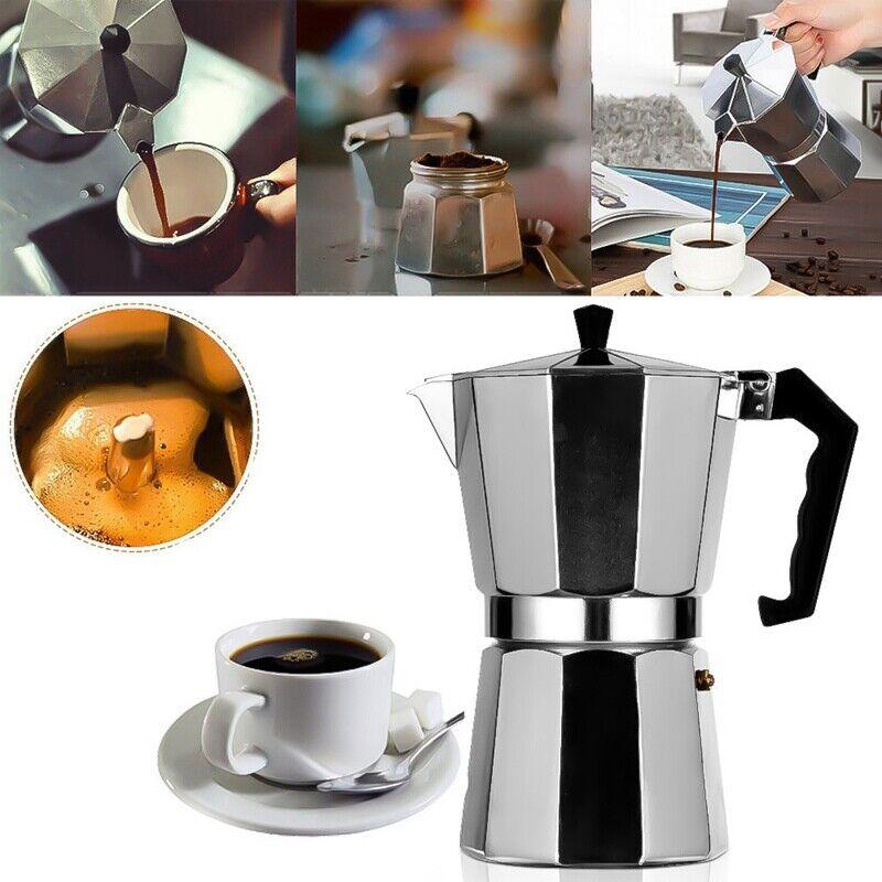 150ml/300ml 3/6 Cups Espresso Maker, Moka Pot Coffee Percola
