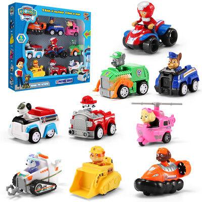 Set of 9 Paw Patrol Pup Deluxe Spiel Figuren - Spielfiguren Spielzeug (Pup Patrol Spiele)