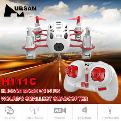 Hubsan H111C X4 Drone 2.4G 4CH RC Quadcopter with 480P HD Camera, LED, RTF 2018