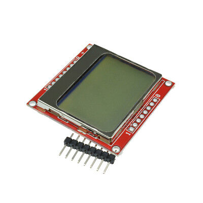 8448 Lcd Module White Backlight Adapter Pcb For Nokia 5110 Arduino B2ae