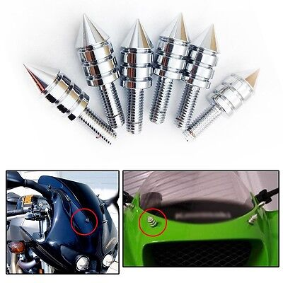 Universal  Motorcycle Spike Bolts Chrome(Windscreen, Fairings, License Plate) ()