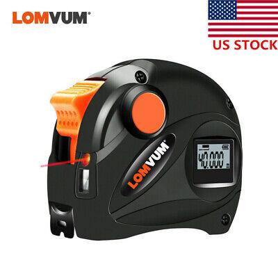 Lomvum 2 In1 Digital Laser Distance Meter Usb 40m Rangefinder 5m Tape Measure Us