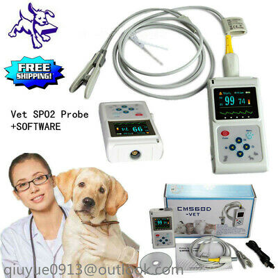 Veterinary Cms60d-vet Pulse Oximeter Spo2 Pr Monitor Pc Software