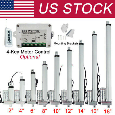 2-18 In Linear Actuator 1500n330lbs Electric Motor 12v Auto Lift For Sofa Bed