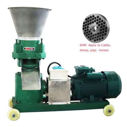 TECHTONGDA 220V Electric Chicken Animal Feed Pellet Mill Machine 6mm Pelletizer