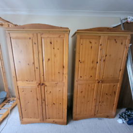 Pine wardrobes in great condition