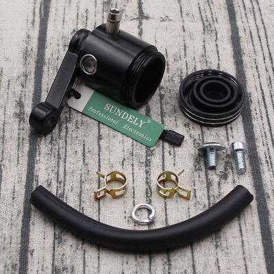 Black Motorcycle Master Cylinder Fluid Oil Reservoir Cup Front Brake Clutch Tank