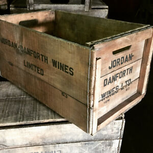 Jordan Danforth Wine Crates for sale