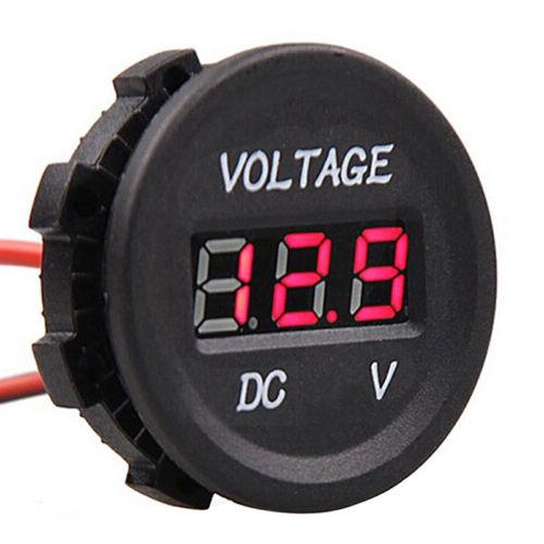 Auto Moto DC12V Pannello di tester digitale di tensione Display LED Voltmetro