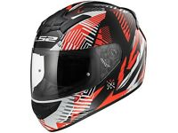 LS2 FF352 Rookie Motorcycle Helmet Infinite White, Red, Black