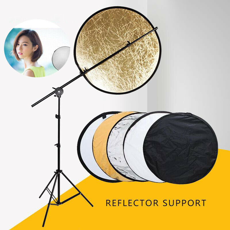 Light Reflector 5 in 1 Round Studio Photography Photo Collapsible Folding GBS