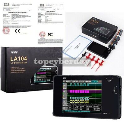 2.8 Tft Mini Digital Logic Analyzer Kit 4 Channel 100mhz 8m Usb Memory La104