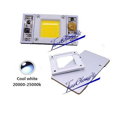 1x 220vac High Power 50w Led Chip Built-in Driver Cool White 20000k-25000k Led