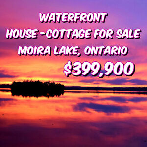 Dreamy Peaceful Waterfront Home Cottage Moira Lake