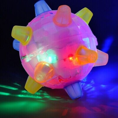 Battery Operating Dog Cat Ball Games Pets Play Chew Toys Jumping Joggle Led Toys