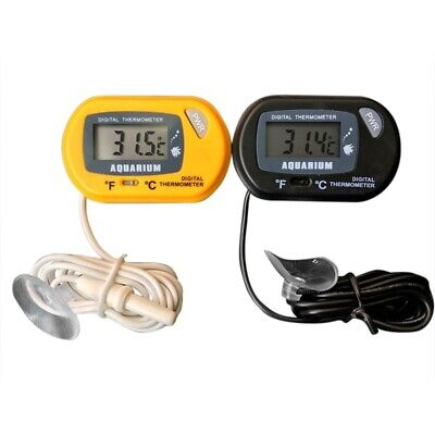 1PC LCD Digital Aquarium Thermometer Submersible for Fresh Salt Water Terrarium