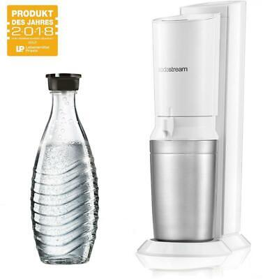 SodaStream Crystal 2.0 UMSTEIGER weiß mit 1x Glaskaraffe, ohne Co² Zylinder