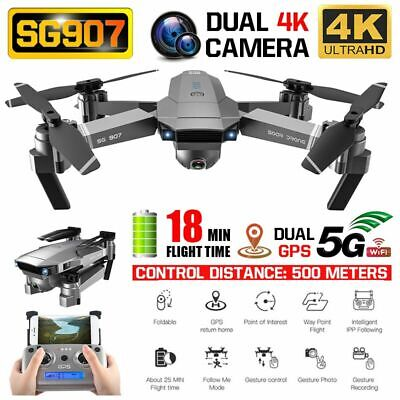 SG907 5G WIFI 4K Drone Dual Camera GPS Optical Flo'W Position RC Quadcopter E4S5