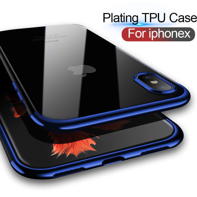 For iPhone XS Max XR X Case Clear Transparent Bumper Shockproof Protective Cover