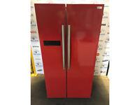 Russell Hobbs RH90FF176R American Style Fridge Freezer - Red