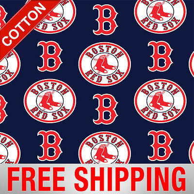 Boston Red Sox Costume (Boston Red Sox Navy MLB Cotton Fabric - 58