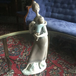 Lladro Mother and Child porcelain figurine