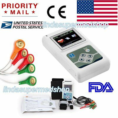 New 3channel 24 Hours Recorder Ecgekg Holter Monitor System Fda Contec Us