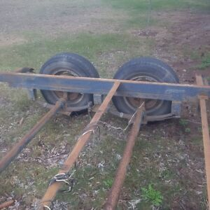 20 FT trailer frame and axles