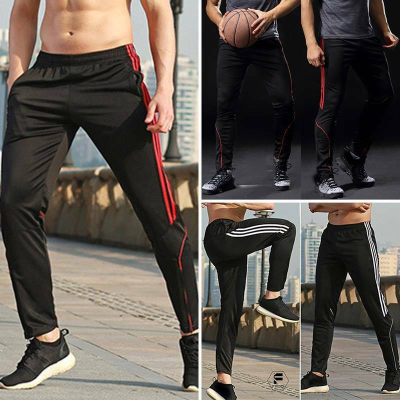 Men Sport Pants Quick Dry Compression Trousers Workout Runni