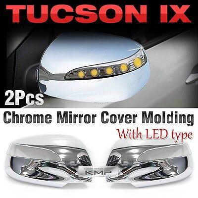 Chrome Mirror Cover  Molding Trim LED Type B661 For HYUNDAI 2010-2013 Tucson ix