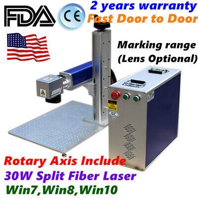 Usa 30w Split Fiber Laser Marking Machine Metal Engraving Equipment Engraver Fda