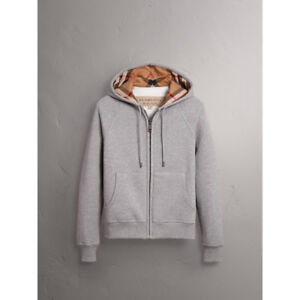 Burberry Grey Zip Up Hoodie