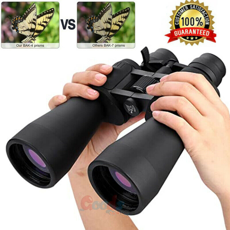 100x180 High Power Auto Focus Binoculars Day/Night BAK4 Hunting Camping+Bag