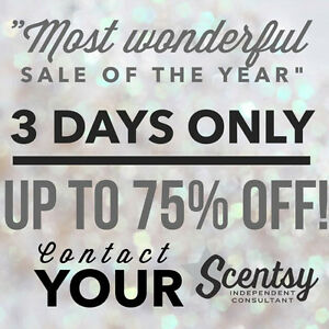 Massive Scentsy 75% off Sale December 2nd, 3rd and 4th