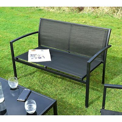 Ellister Siena 2 Seater Metal Bench Garden Sofa Chair Patio Furniture