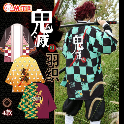 Demon Slayer: Kimetsu no Yaiba Coat Cloak Kimono Robe Yukata for Cosplay Costume