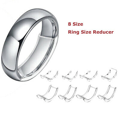 8 Sizes Silicone Invisible Ring Sizer Adjuster Resizer Ring Size Reducer Clear