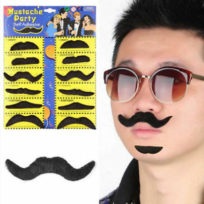 12Pcs/Pack Party Halloween Fake Mustache Funny Cosplay Photo Props Costume Beard - Funny Halloween Costumes Photos