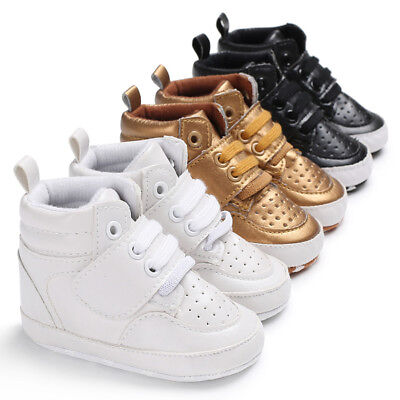 0-18M Toddler Shoes Baby Boy Girl PU Ankle Boots Crib Shoes Anti-slip Sneaker US - Toddler Slip