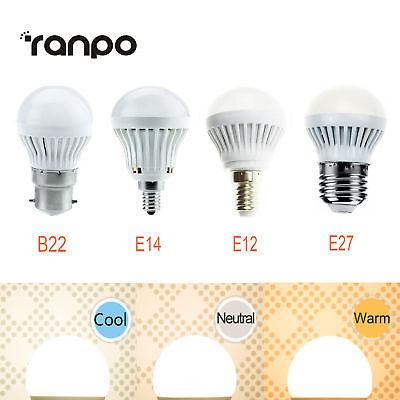 Mini E27 E14 E12 B22 Led Global Light Bulb 3W 5W 7W 2835 Smd Lamp Ac 110V 220V